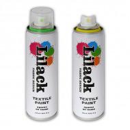 Аэрозольная краска для ткани LILACK Fabric Design, 220 мл, несмываемая, в ассортименте + светящаяся