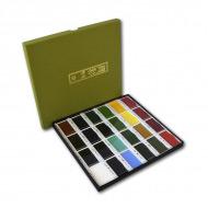 Традиционный японский набор акварельных красок ZIG KURETAKE Gansai Tambi 24 colors set, 24 цвета