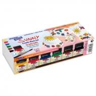 Набор для росписи по светлым тканям Javana Textil Sunny Basic Colors С. Kreul, 6 основных цветов и кисть