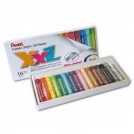 Пастель масляная Pentel XXL в картоне, мелки увеличенного диаметра, 16 цветов
