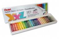 Пастель масляная Pentel XXL в картоне, мелки увеличенного диаметра, 24 цвета