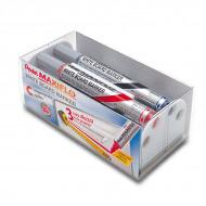 Набор маркеров для досок и флипчартов Pentel Maxiflo с круглым пером 4,0 мм и магнитная губка