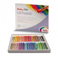 Мелки для рисования - пастель масляная Pentel в наборе 36 цветов