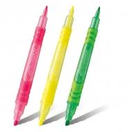 Набор маркеров - выделителей текста, двусторонние Pentel E-line2 наконечник 1,0 - 3,5 мм