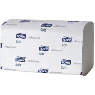 Полотенца бумажные лист. Tork XpressMultifold Advanced.Soft(М-сл)(Н2), 2-слойные, 136л/пач, белые