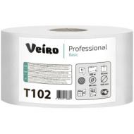 Бумага туалетная Veiro Professional Basic(Q2, Т2) 1 слойн., 200м/рул, тиснение, цвет натуральный