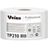 Бумага туалетная Veiro Professional Comfort(Т8) 2-слойная, 215м/рул, тиснение, белая
