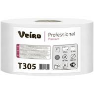 Бумага туалетная Veiro Professional Premium(Q2, Т2) 2-слойная, 170м/рул, тиснение, белая