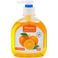 Мыло жидкое OfficeClean Апельсин, с дозатором, 300мл