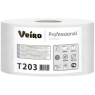 Бумага туалетная Veiro Professional Comfort(Q2) 2-слойная, 200м/рул, тиснение, белая