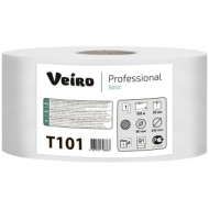 Бумага туалетная Veiro Professional Basic(Q1) 1 слойн, 450м/рул, тиснение, цвет натуральный