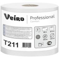 Бумага туалетная Veiro Professional Comfort(T4/T9) 2-слойн., мини-рулон, 80м/рул., тиснен.,белая