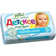 Мыло-крем туалетное Весна Детское, бумажная обертка, 90г