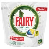Капсулы для посудомоечной машины Fairy All in 1. Лимон, 24шт.