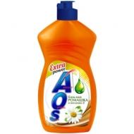 Средство для мытья посуды AOS Бальзам Ромашка и Витамин Е, 450мл