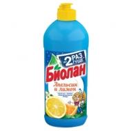 Средство для мытья посуды Биолан Апельсин и Лимон, 450мл