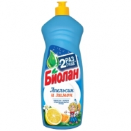 Средство для мытья посуды Биолан Апельсин и Лимон, 900мл