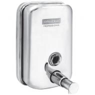 Диспенсер для жидкого мыла OfficeClean Professional, наливной, механический, нержавеющая сталь, 0,5л