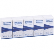 Платки бумажные носовые OfficeClean Premium, 3-слойные, 18*20см, белые, 10 пачек по 10шт.