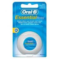 Зубная нить Oral-B Essential, вощеная, мятная, 50м