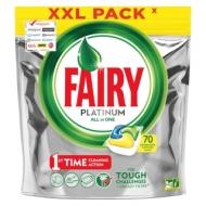 Капсулы для посудомоечной машины Fairy Platinum. All in1. Лимон, 70шт.