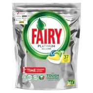 Капсулы для посудомоечной машины Fairy Platinum. All in 1. Лимон, 37шт.