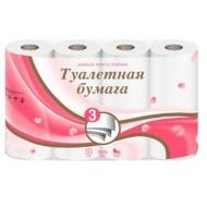 Бумага туалетная Veiro 3-слойная, 8шт., тиснение, белая