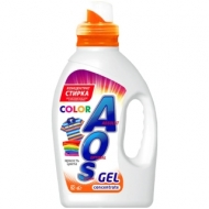 Гель для стирки AOS Color, для цветного белья, концентрат, 1,3л