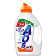 Гель для стирки AOS, для белого белья, концентрат, 1,3л