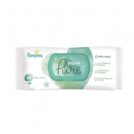 Салфетки влажные Pampers Aqua Pure детские, 48шт., крышка-клапан