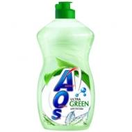 Средство для мытья посуды AOS Ultra Green, 450мл