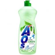 Средство для мытья посуды AOS Ultra Green, 900мл