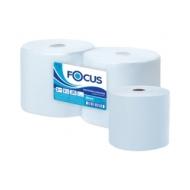 Протирочное индустриальное полотенце для рук в рулоне Focus Jumbo 2-слойная, 350м/рул, 24*35см, голубой