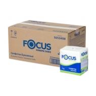 Салфетки бумажные Focus Economic, 1 слойн., 24*24см, белые, 100 шт