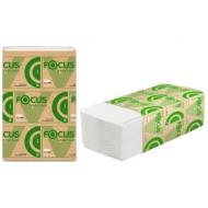 Полотенца бумажные лист Focus Eco (V-сл) 1 слойн., 200 л/пач, 23*20, 5 см,белые
