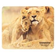 Коврик для мыши Sonnen Животные, резина+ткань, 220х180х3 мм, 5 видов, 512818