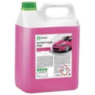 Шампунь автомобильный для автоматической и ручной мойки 6 кг Grass Active Foam Pink Розовая пена, 113121