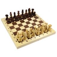 Игра настольная Шахматы, 32 деревянные фигуры, деревянная доска 30х30, 10 КОРОЛЕВСТВО, 2845