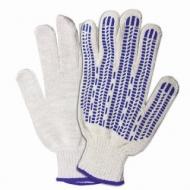 Перчатки хлопчатобумажные, 1 пара, 7 класс, 70 г, 233 текс, ПВХ-протектор, Лайма Премиум, Европодвес, белые, 601913