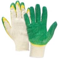 Перчатки хлопчатобумажные, Комплект 5 пар, 13 класс, 40-42 100 текс, двойной латексный облив, Лайма Люкс, 605349