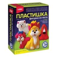 Набор для изготовления фигур из теста Пластишка Маленькие собачки, тесто для лепки, формы, LORI, Тдл-024