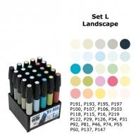 Набор художественных маркеров Chartpak LANDSCAPE (пейзаж), 25 шт