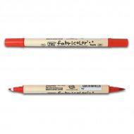 Двусторонние маркеры ZIG KURETAKE Fabricolor Twin для тканей, нак. 2 мм и кисть, в ассортименте