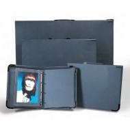 Портфолио на кольцах College А2 Teloman для рисунков и документов, А2, серый, иск. кожа