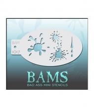Гибкий многоразовый трафарет BAMS 1017 «Капли и кляксы» для аквагрима и рисования
