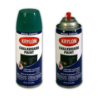 Аэрозольная грифельная краска KRYLON Chalkboard Paint - краска с эффектом грифельной доски 400 мл