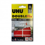 Прозрачные двусторонние монтажные клеевые ленты для гладких поверхностей UHU Doublefix