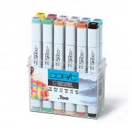 """Набор маркеров COPIC Pastel Colours """"Пастель"""" (12 шт) двусторонние"""