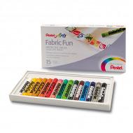 Пастель для рисования на ткани FabricFun Pastels 15 цветов