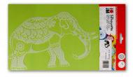 Трафарет-силуэт Marabu Индийский слон А4